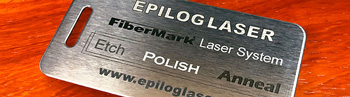 fiber metal marking laser etch polish anneal sample