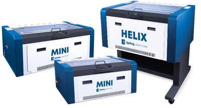 epilog mini and helix mid range laser cutter machines