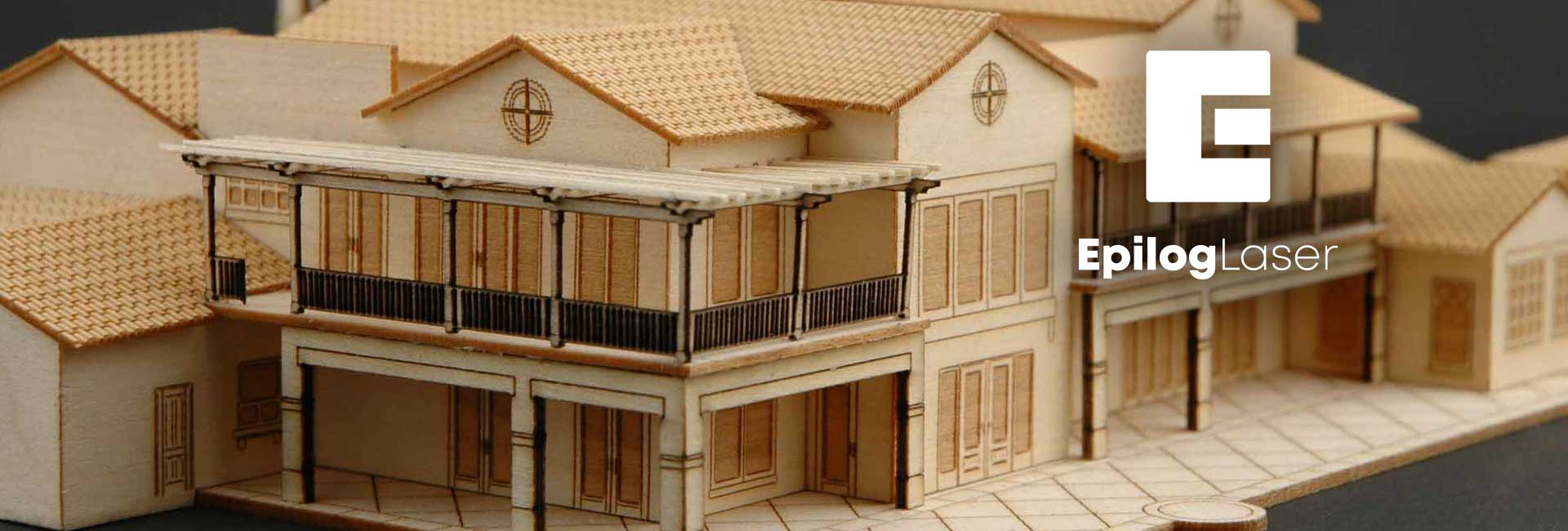 laser cut architectural model church project