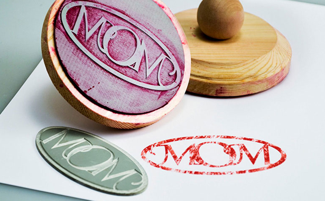 laser rubber for custom stamps mother's day